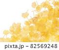 銀杏の絨毯イメージイラスト背景なしver.半透明イエロー 82569248