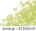 銀杏の絨毯イメージイラスト背景なしver.半透明グリーン 82569249