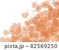 銀杏の絨毯イメージイラスト背景なしver.半透明レッド 82569250