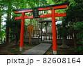 智福山法輪寺の電電宮赤鳥居(京都市西京区) 82608164