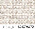 水彩の淡いペールトーンの煉瓦背景 82679872