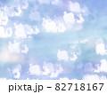 サンタとトナカイのシルエット模様のリフレクション ブルー系背景素材 82718167