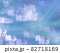 サンタとトナカイのシルエット模様のリフレクション ブルー系背景素材 82718169