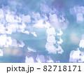 サンタとトナカイのシルエット模様のリフレクション ブルー系背景素材 82718171