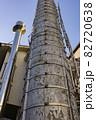 大きな古い煙突と新しい小さな煙突 82720638
