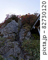石鎚山(愛媛県)の鎖場 82730120