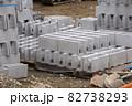 コンクリートブロックレンガ 建設現場  82738293