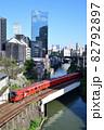 神田川を渡る丸の内線3000系電車 82792897