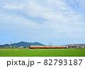 弥彦山を背景に越後線を走る115系電車 82793187