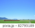 弥彦山を背景に越後線を走る115系電車 82793189
