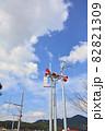 河川の増水を知らせる河川水位警報スピーカー 82821309