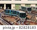 六甲島検車場の六甲ライナー 82828183