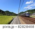 南海高野線 千早口駅付近を走る6000系電車 82828408