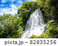 長野県茅野市の豪快に流れる乙女滝 82835256