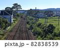 JR奥羽本線と秋田内陸線のレール 82838539