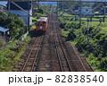 JR奥羽本線と秋田内陸線のレール 82838540