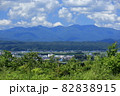 白神山地(田代岳・雷岳・烏帽子岳・茶臼岳)を望む 82838915
