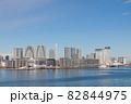 東京湾から望む晴海客船ターミナルとタワーマンション群 82844975