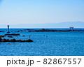 葉山港から見る鳥居と自然 82867557