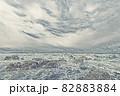 【新潟県日本海】イラストタッチで表現した冬の日本海 82883884