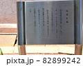 糸魚川駅、駅前ロータリーの奴奈川姫像 に関する説明板 大国主命の本音は翡翠の秘密の着服との説も有りと 82899242