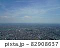猛暑日の遠くが霞んでいる東京スカイツリーからの眺め 82908637