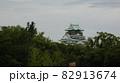 曇り空の下の大阪のシンボル天守閣 【大阪城】 82913674