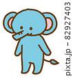 可愛いゾウのキャラクター 82927403
