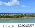 沖縄の海(慶良間諸島の見える風景) 82928357