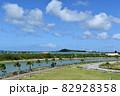 沖縄の海(瀬長島が見える風景) 82928358