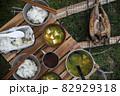 キャンプの朝ごはん 〜ホッケ定食〜 82929318