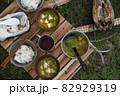 キャンプの朝ごはん 〜ホッケ定食〜 82929319