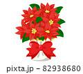 ポインセチア  クリスマス素材のアイコン/ベクター画像 82938680