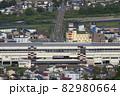 初夏の浦佐駅西口(俯瞰) 82980664