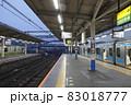 AM06:00/早朝の大宮駅在来線ホームにて 83018777