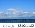 秋晴れの大野町海岸 83021182