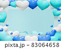 青系ハートの背景(男性用プレゼントのイメージ) 83064658