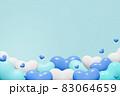 青系ハートの背景(男性用プレゼントのイメージ) 83064659