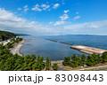 蟹田港から津軽半島と下北半島の間をとおして津軽海峡、北海道が見えます。 83098443
