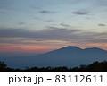 夕暮れの野反峠から見る浅間山 83112611
