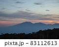 夕暮れの野反峠から見る浅間山 83112613