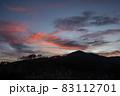 夕暮れの野反峠から弁天山 83112701