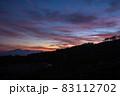 夕暮れの野反峠から弁天山 83112702