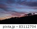 夕暮れの野反峠から弁天山 83112704