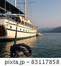 View of a beautiful yacht in Turkey 83117858