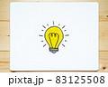 電球のイラストが描かれたホワイトボード 83125508