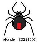 かわいいセアカゴケグモのキャラクター 83216003