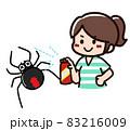 殺虫剤をかけられるセアカゴケグモ 83216009