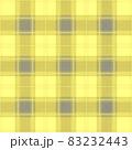 おしゃれな黄色いタータンチェックの背景イメージ 83232443