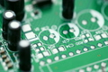 Printed circuit board with radio components rotates counterclockwise 3509798